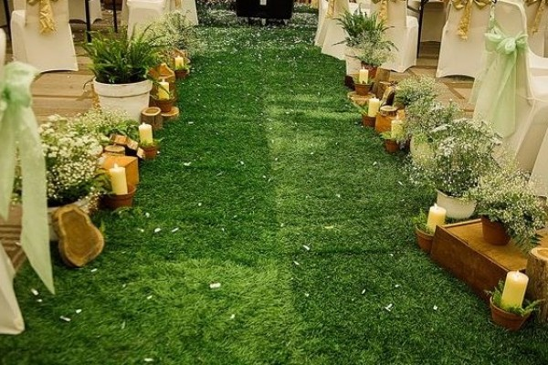 Trang trí khách sạn với cỏ nhân tạo sân vườn – nâng tầm đẳng cấp kiến trúc Việt
